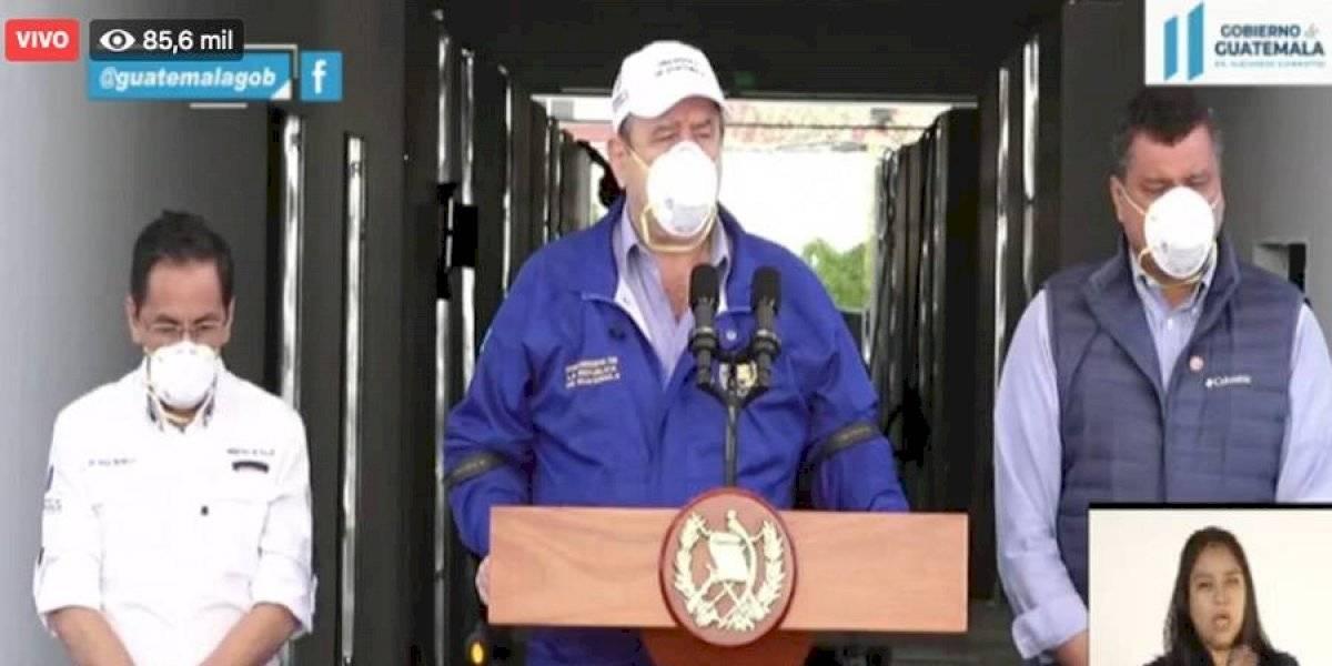 Giammattei indica que no será en La Verbena donde se enterrarán fallecidos por coronavirus