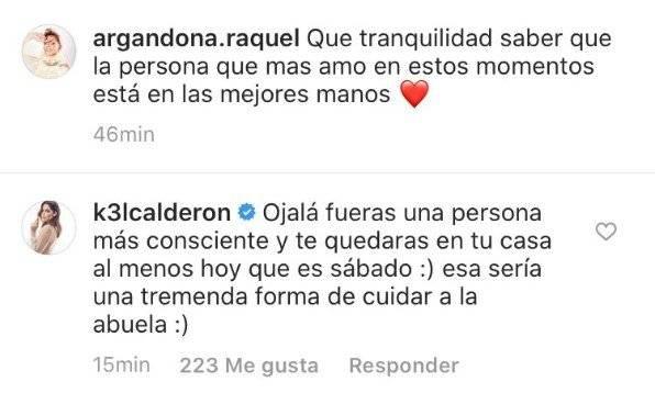 Kel Calderón a Raquel Argandoña