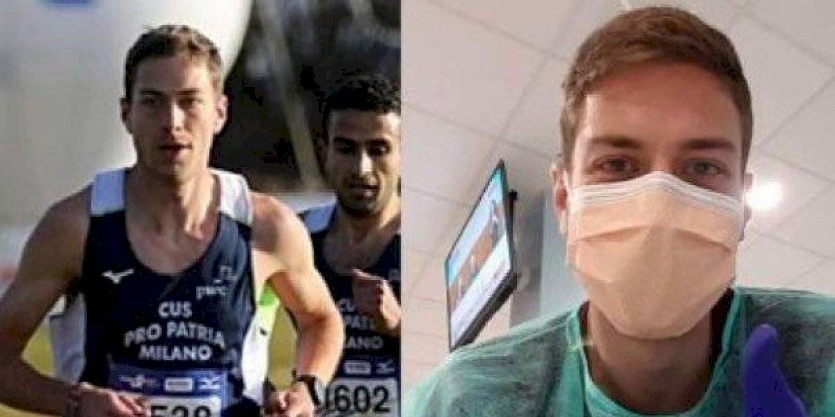 Atleta italiano relata cómo superó el coronavirus tras ser hospitalizado