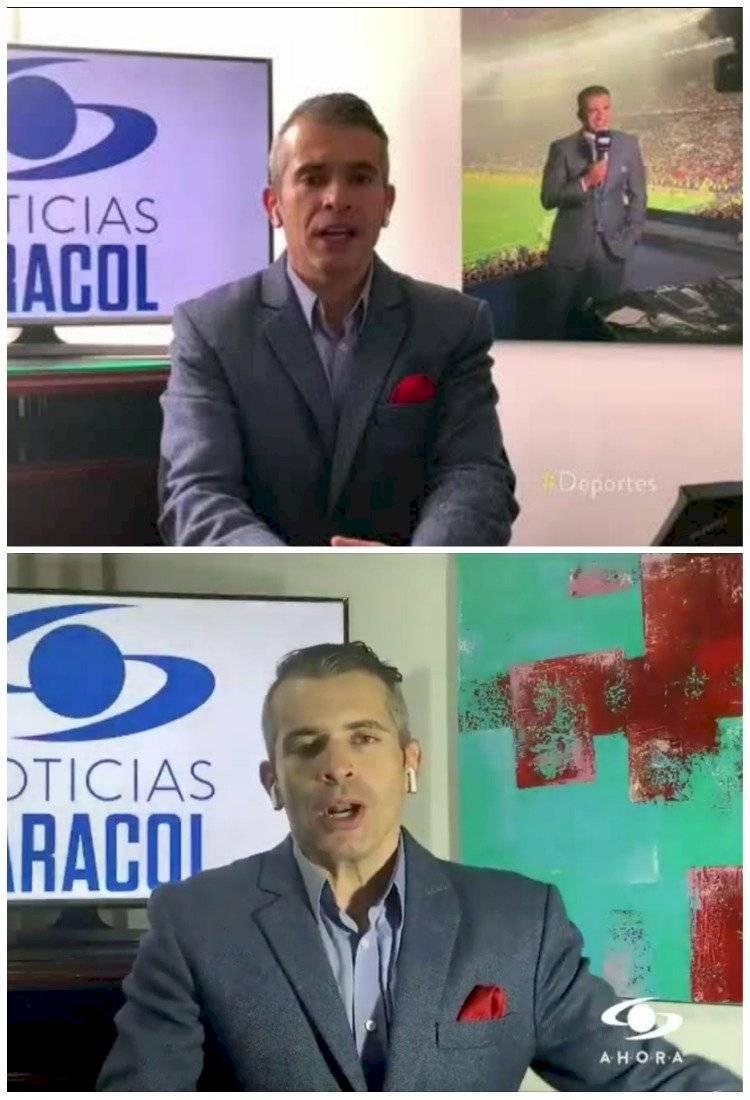 Juan Pablo Hernández durante sección de deportes de Noticias Caracol
