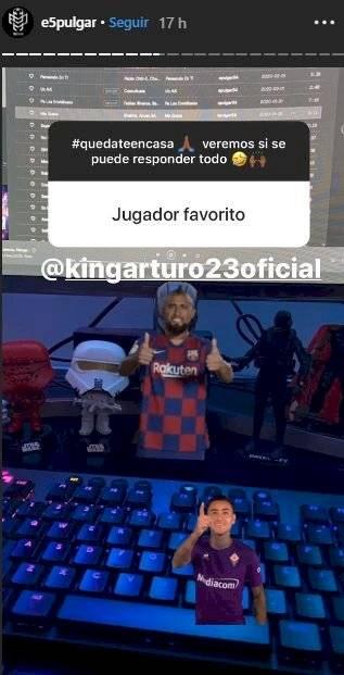 Halagos de Pulgar a Vidal Instagram