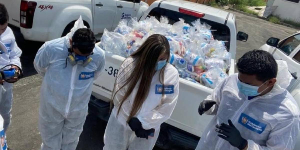 Gobierno del Guayas empezó en Jujan entrega de kits ante emergencia por coronavirus