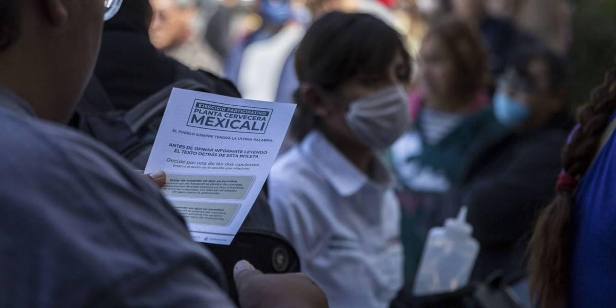 Mexicali dice no a cervecera en consulta promovida por AMLO