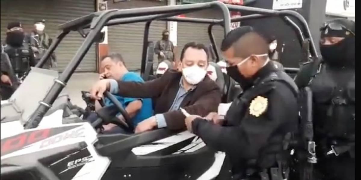 PNC explica situación de diputado que se encontraba en la vía pública durante toque de queda
