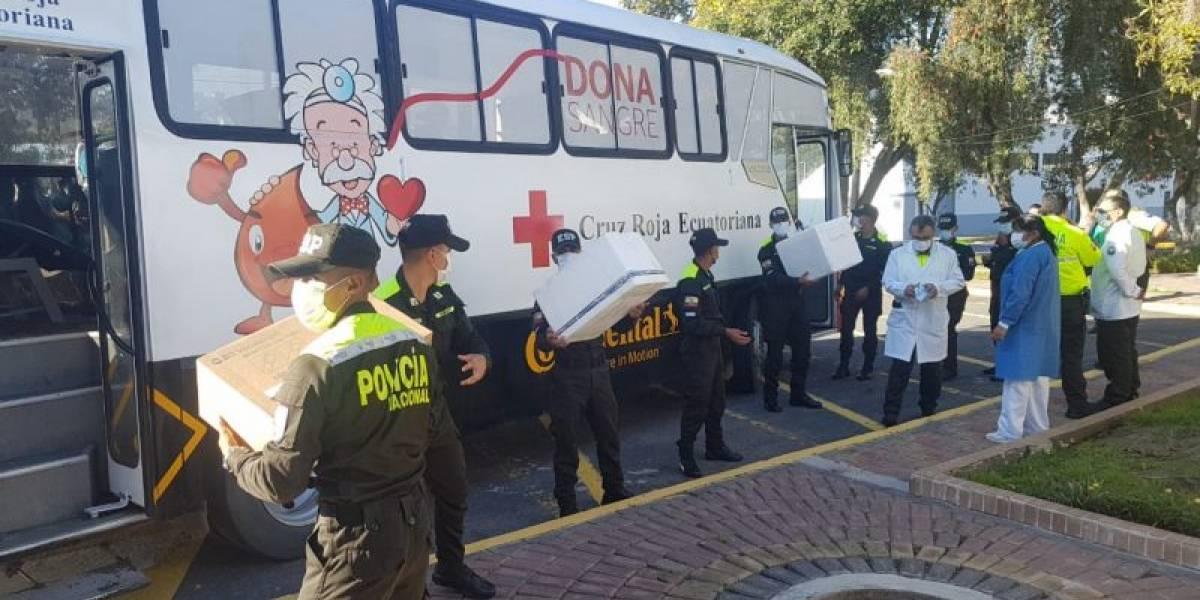740 cadetes de la Policía donaron sangre para la Cruz Roja