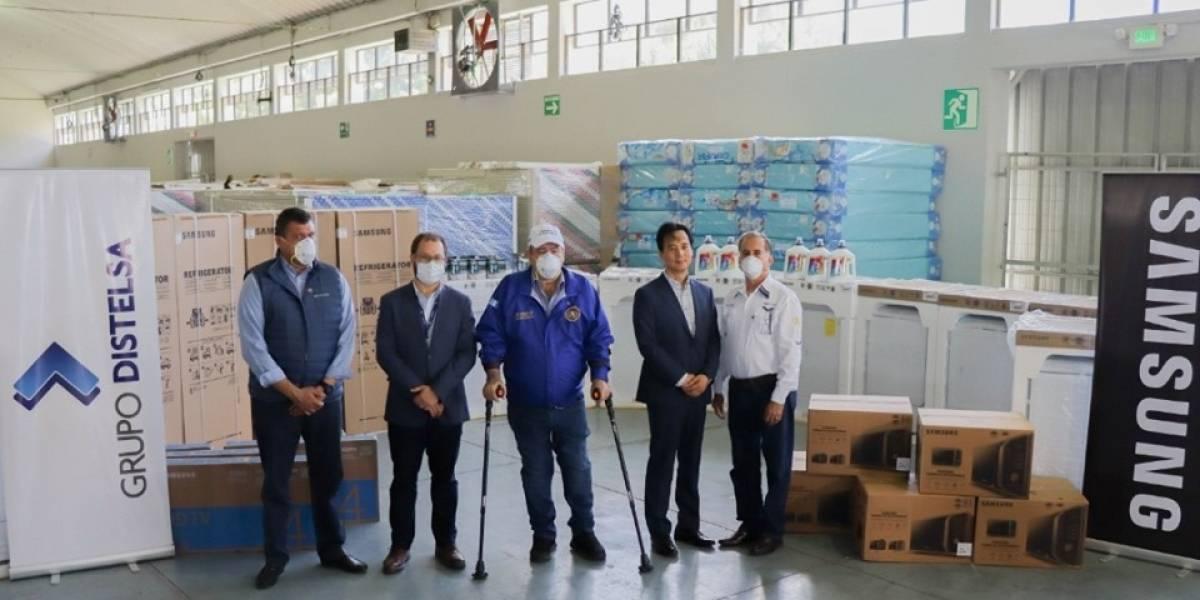 Donativo de electrodomésticos ayudará al funcionamiento de hospital temporal