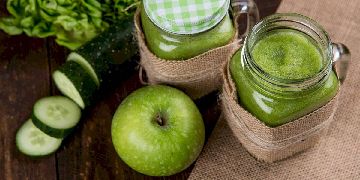 Jugo de manzana y espinacas para subir las defensas