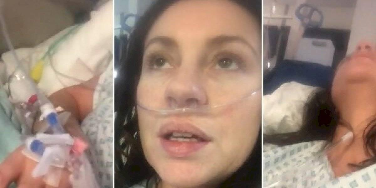 'Sinto como se tivesse vidro nos pulmões': a mensagem de alerta de uma paciente com covid -19