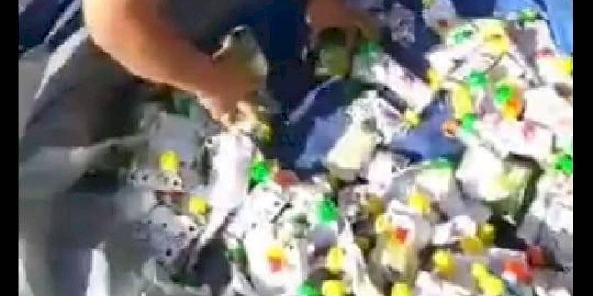 Carabineros decomisa en feria libre alimentos Junaeb de canasta de ayuda por coronavirus