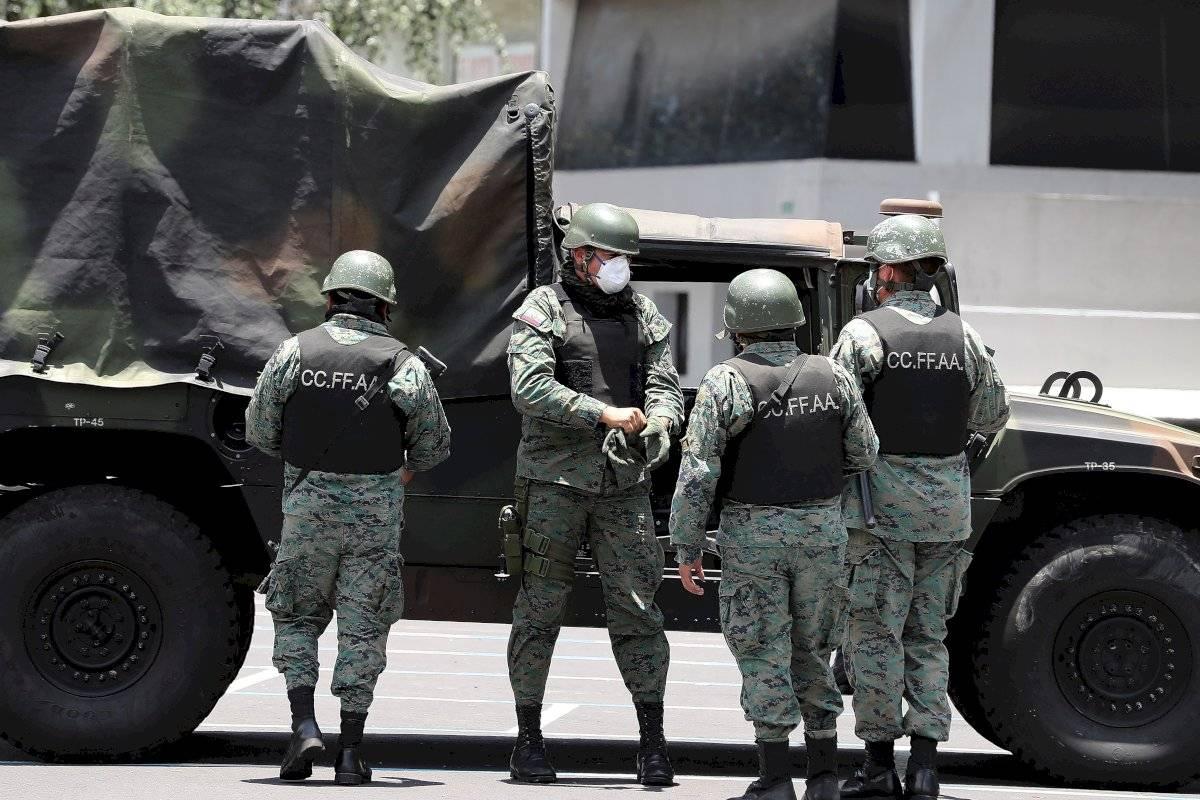 Operativo militar por toque de queda