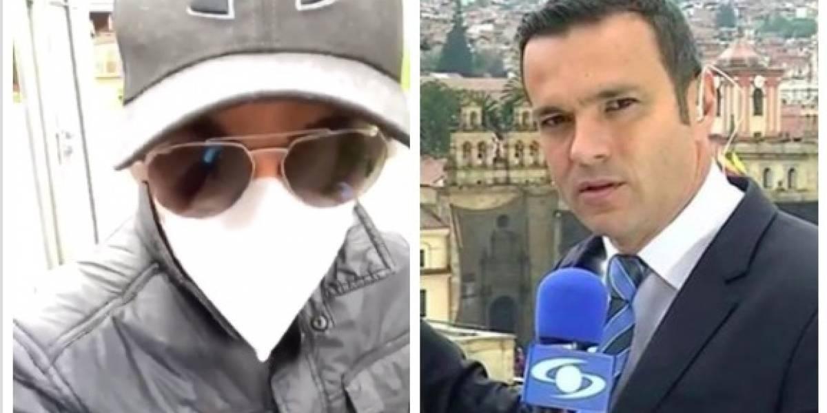 (Video) ¿Exagerado? Las burlas a Juan Diego Alvira por su particular forma de salir a la calle por estos días