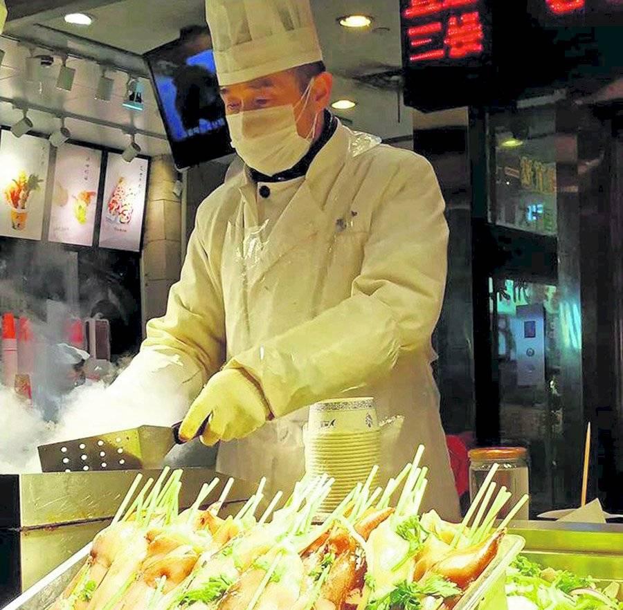 Cocina en calles de China