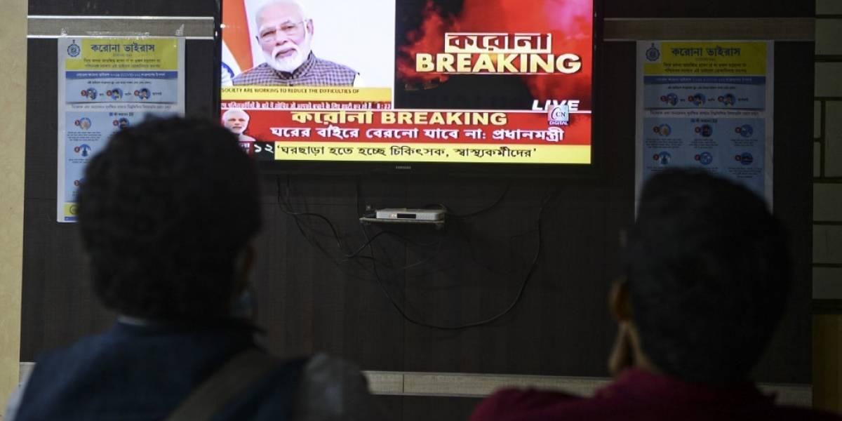 India decreta el confinamiento total de sus habitantes por el coronavirus