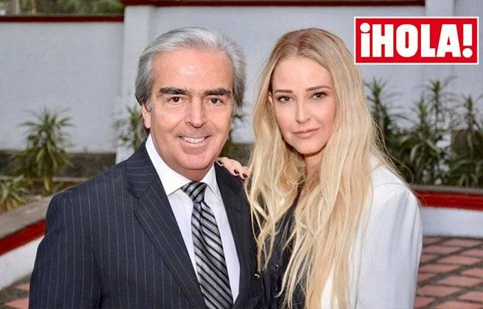 Lorenzo Lazo y su novia