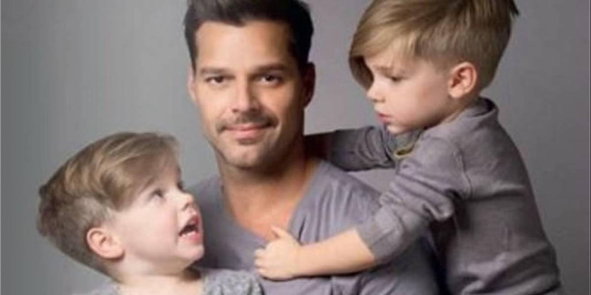 Mira cómo han crecido los gemelos de Ricky Martin