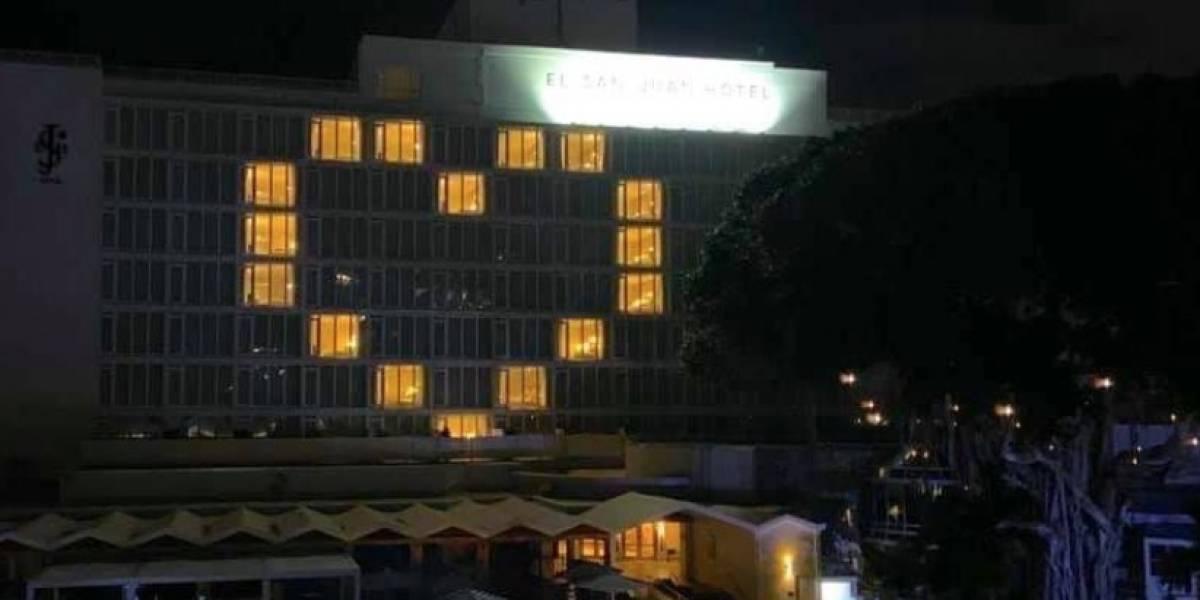 El San Juan Hotel envía mensaje a los boricuas y al mundo por el coronavirus
