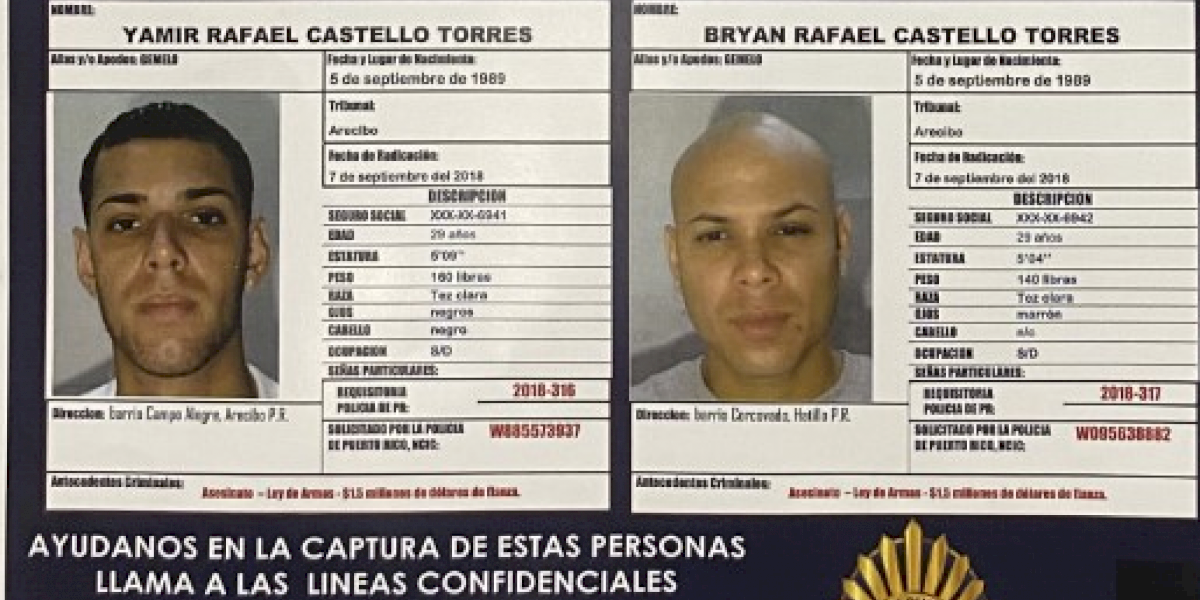 Arrestan hombre prófugo por asesinato, pero siguen buscando a su gemelo