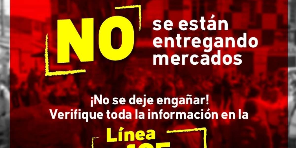 ¡No se deje engañar! Alcaldías locales de Bogotá no están entregando mercados