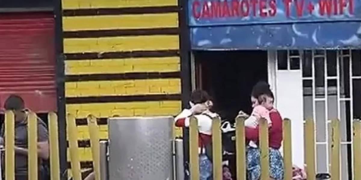En plena cuarentena, sacan familias que vivían en albergues temporales del centro de Bogotá
