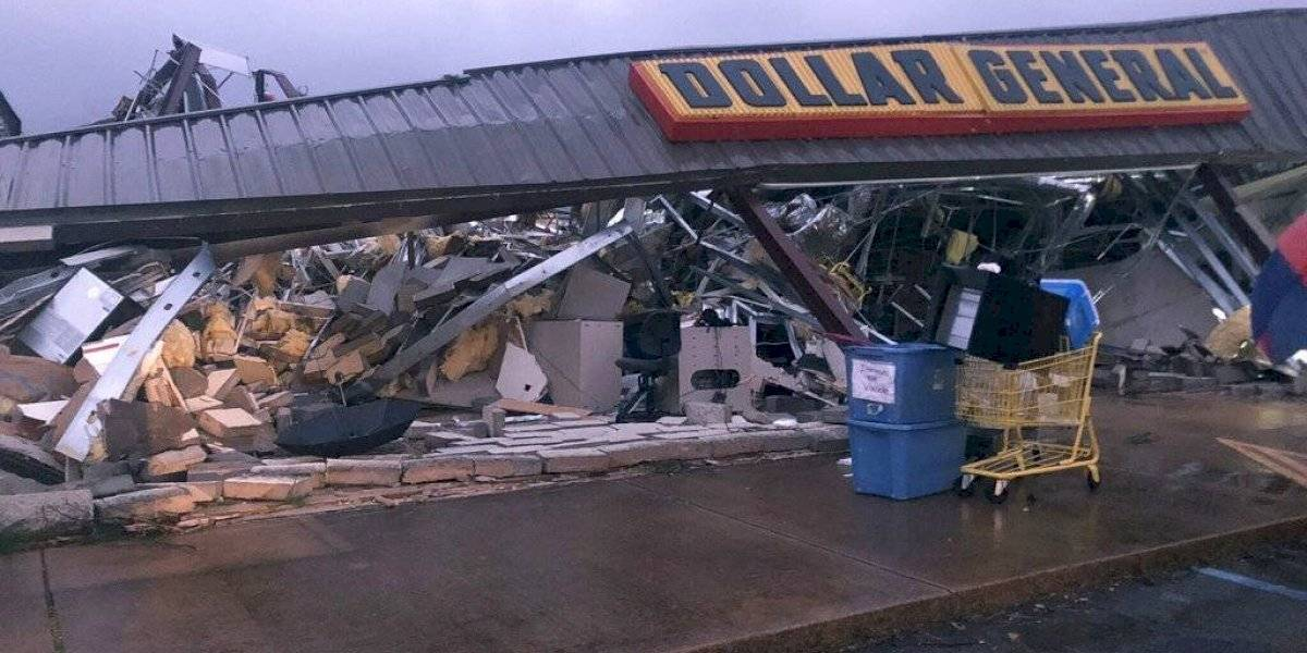 Tornado y tormentas causan daños en Mississippi y Alabama