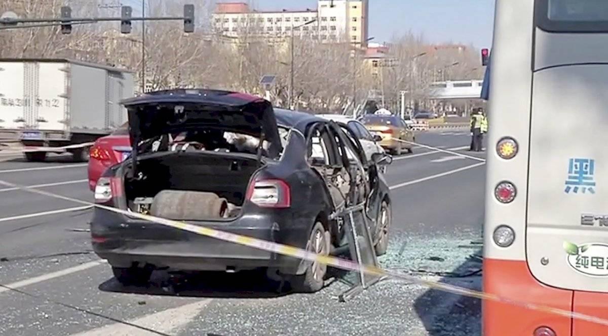 Auto explota en China