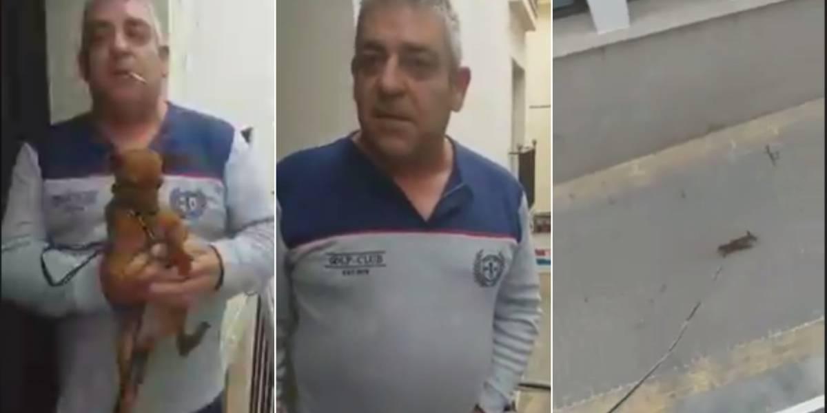 Homem mostra truque para passear com cachorro na quarentena e vídeo se torna viral