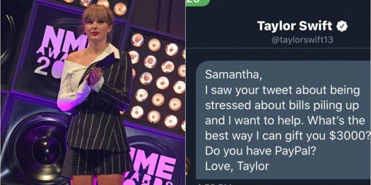 Taylor Swift doa US$ 6 mil para duas fãs em dificuldades financeiras