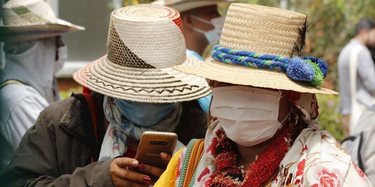 Comunidades indígenas llegaron en masa a Bogotá a pedir ayudas al Gobierno