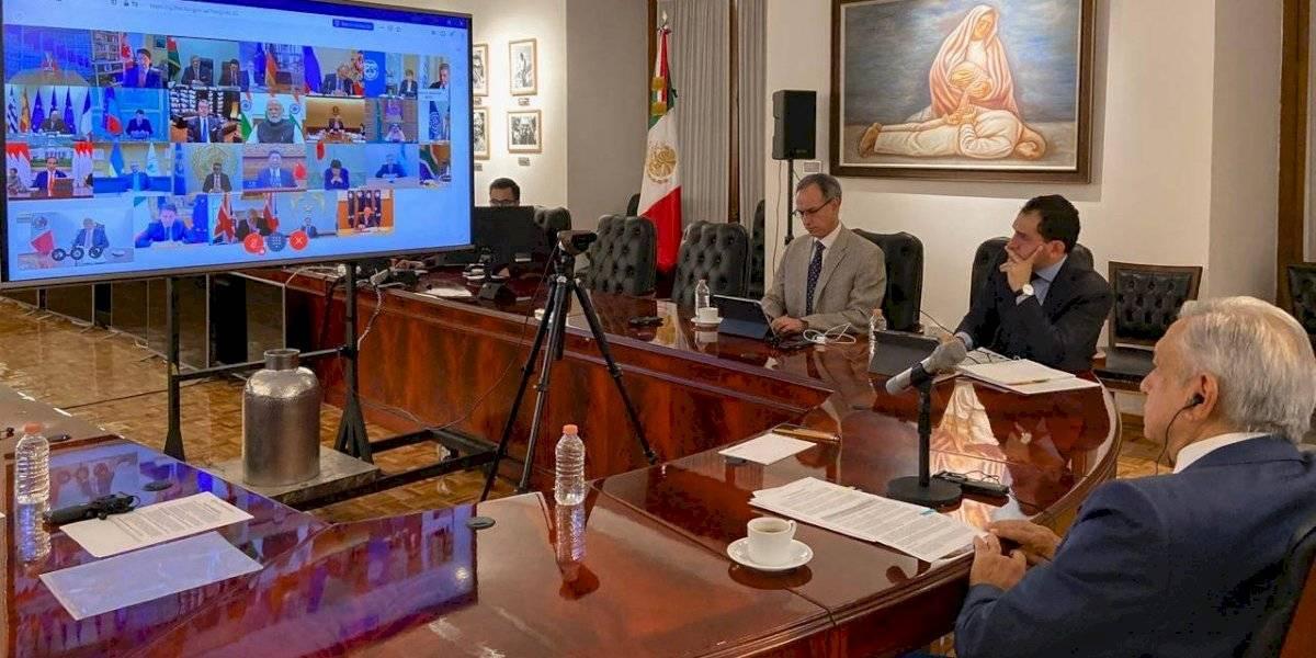 Revela AMLO su intervención en la cumbre virtual del G20