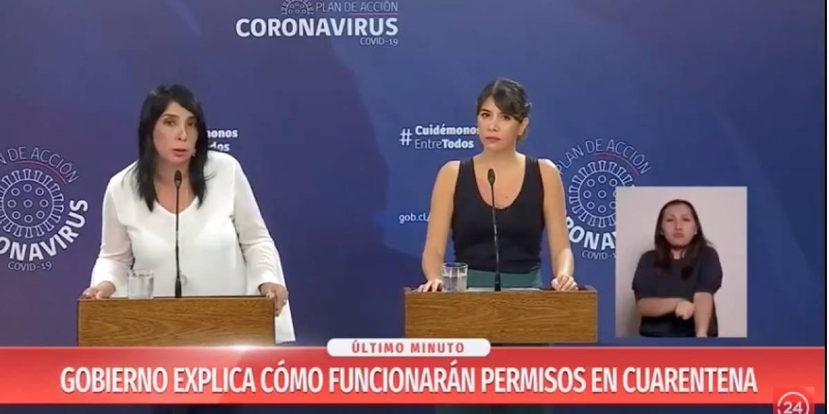 """Permisos sin clave única: la """"llamativa"""" forma en que ministra Rubilar aclaró medidas para comunas en cuarentena por coronavirus"""
