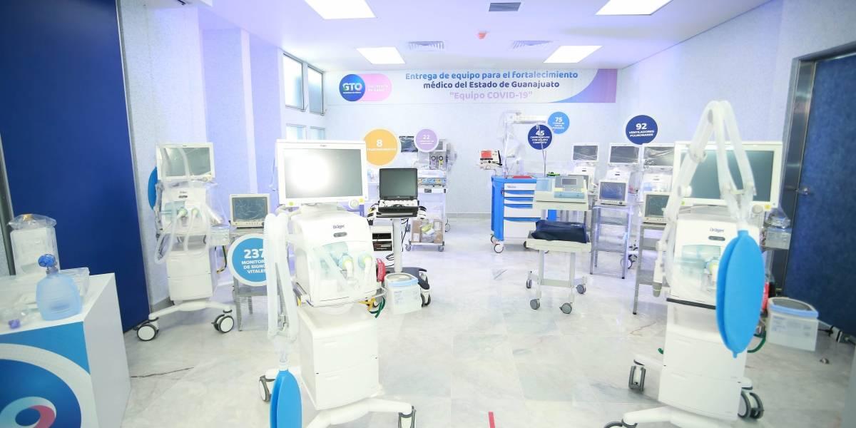 Compran 92 respiradores para atender a pacientes con coronavirus en Guanajuato