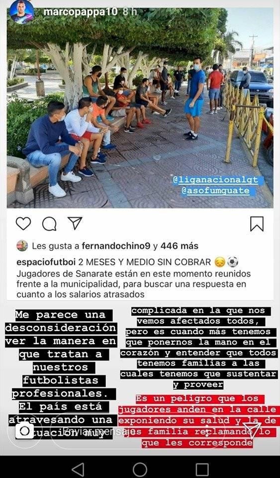 Marco Pappa se solidarizo con jugadores de Sanarate