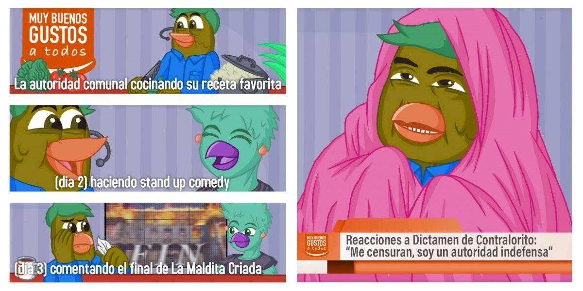 """""""Me censuran, soy una autoridad indefensa"""": el meme con el que Contralorito respondió a alcaldes por polémica sobre matinales"""