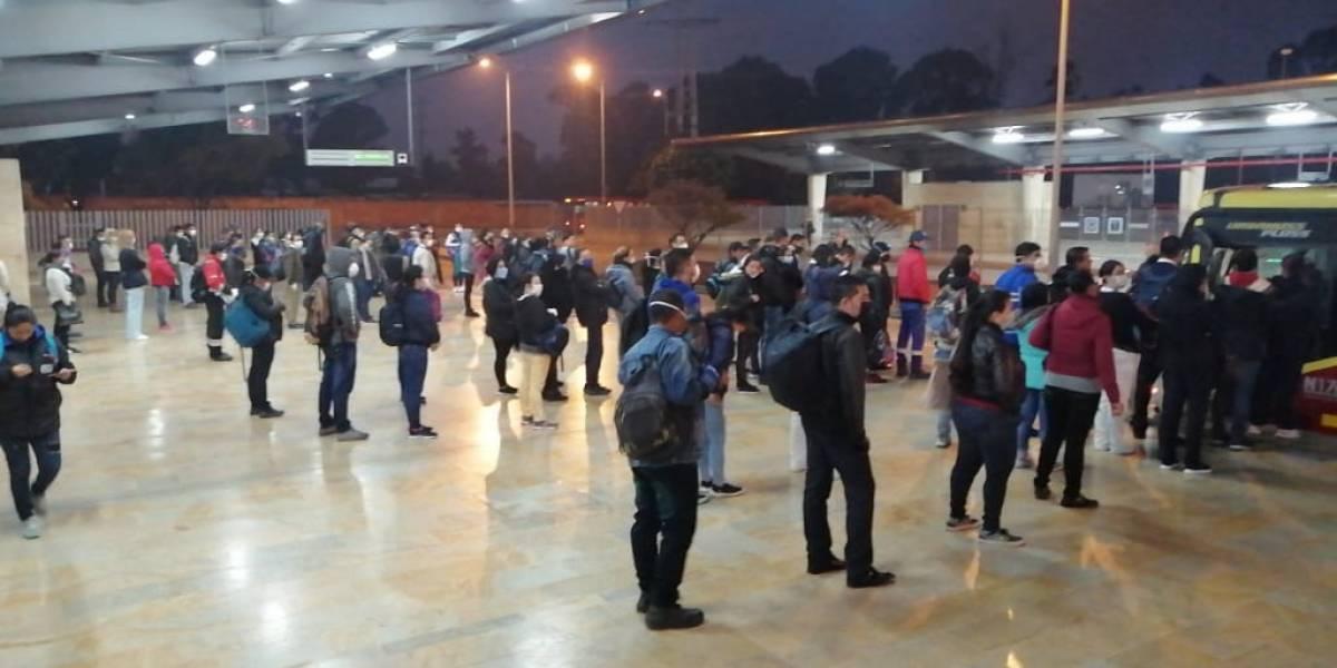 Los controles en TransMilenio para evitar aglomeraciones durante la cuarentena