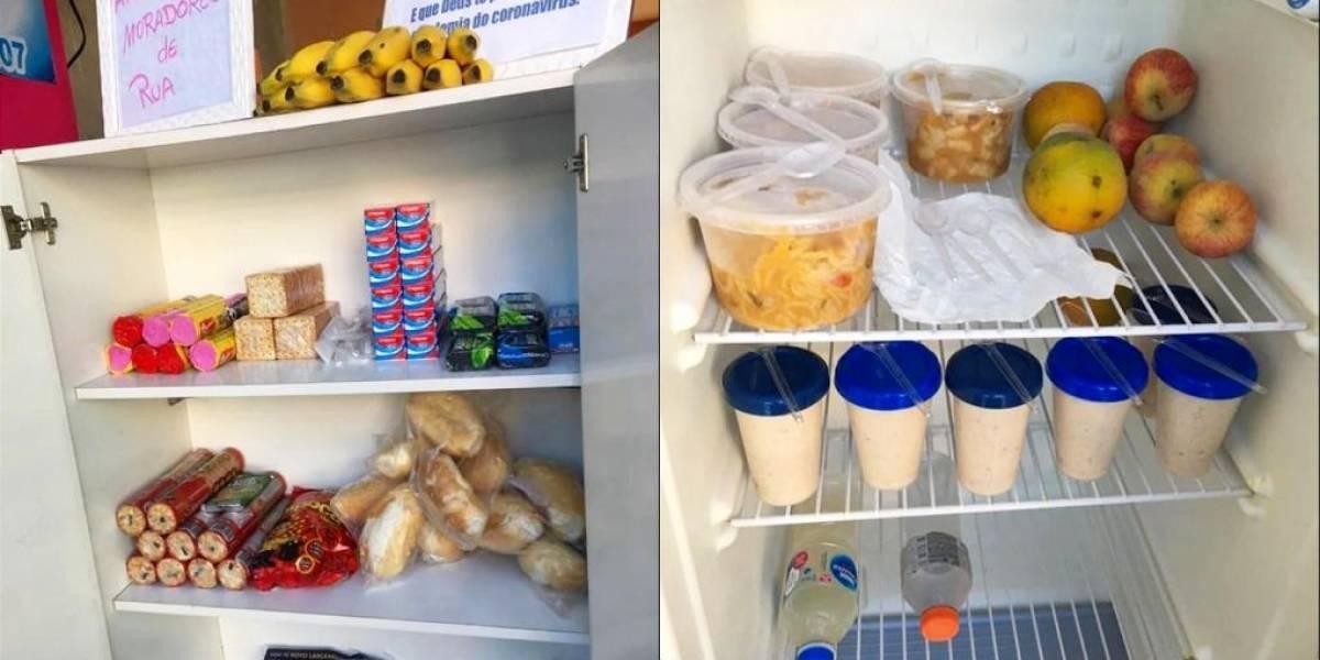 Voluntários montam 'cozinha comunitária' com alimentos para moradores de rua
