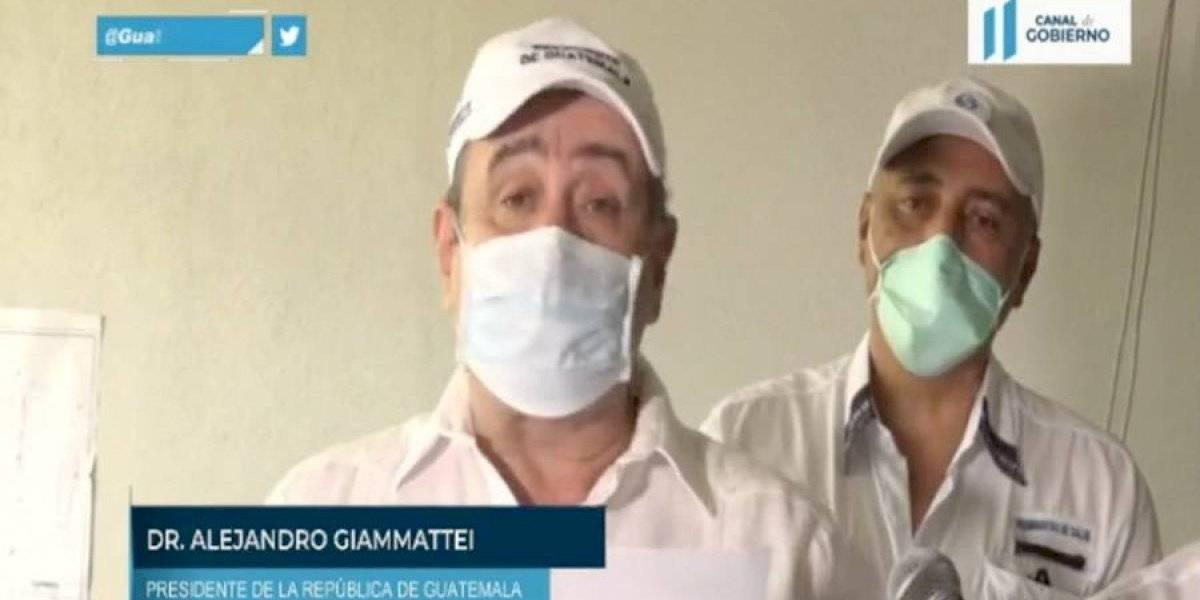 VIDEO. Giammattei confirma dos nuevos casos de coronavirus; también 5 recuperados