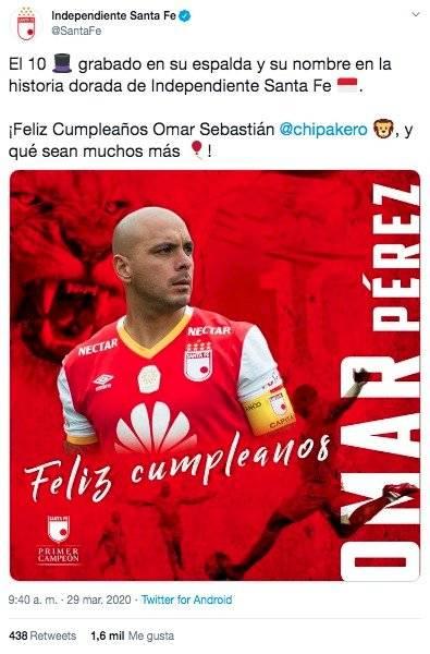 Mensaje cumpleaños 39 Omar Pérez