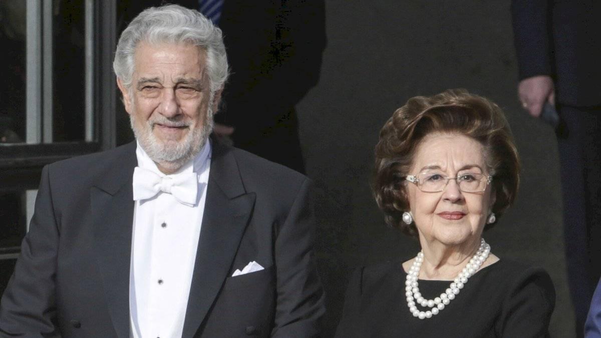 Plácido Domingo y su esposa Marta Ornelas