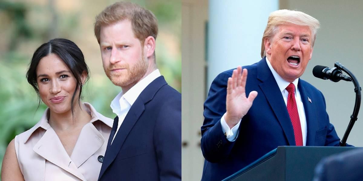 ¡Dura advertencia! Donald Trump arremete contra Meghan Markle y el príncipe Harry