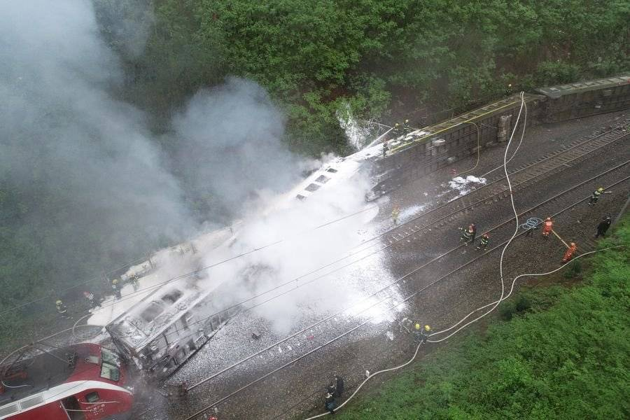 Accidente de tren en Hunan