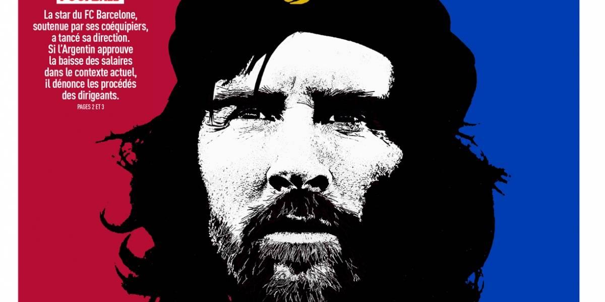 """""""El Che Guevara del Barcelona"""": así cataloga a Messi la portada de diario francés"""