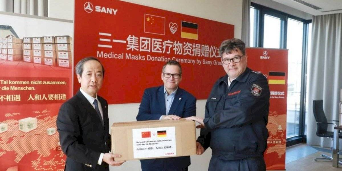 Sany dona miles de mascarillas para combatir el coronavirus