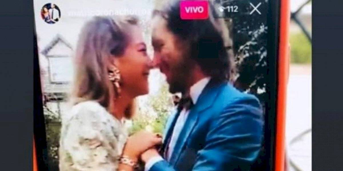 Matrimonio por Instagram y en cuarentena por coronavirus: publicista chilena se casó en su casa y transmitió ceremonia