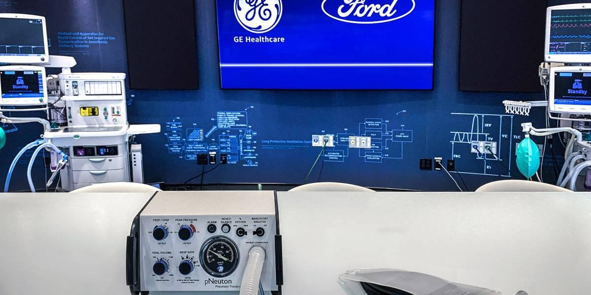 Ford y GE Healthcare inician producción de ventiladores para fabricar 50 mil unidades en 100 días