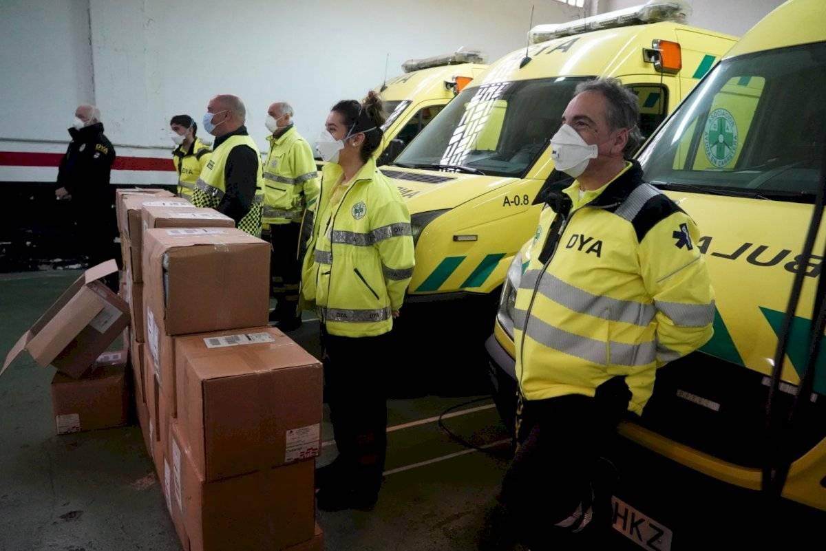 Una gran parte de las mascarillas irá al Hospital de Galdakao y a la red de transporte sanitario urgente