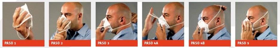 Cómo usar el cubrebocas N95