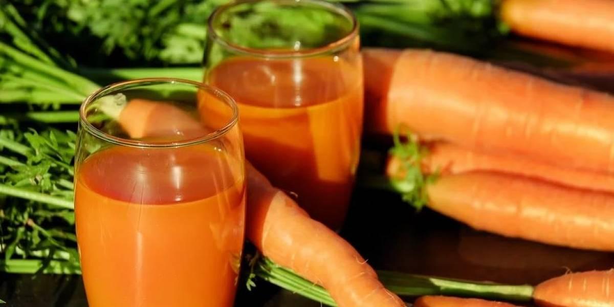 Jugo de zanahoria  y calabaza para fortalecer el sistema inmune