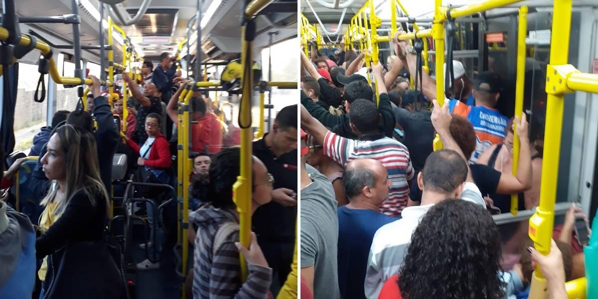 Ônibus em São Paulo seguem cheios mesmo após novos ajustes na frota