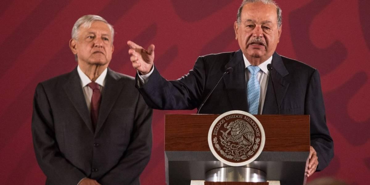 AMLO pide a empresarios seguir ejemplo de Carlos Slim