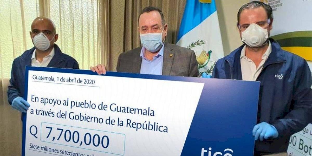 Tigo entrega Q7.7 millones para la adquisición de insumos durante la emergencia